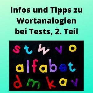 Infos und Tipps zu Wortanalogien bei Tests, 2. Teil